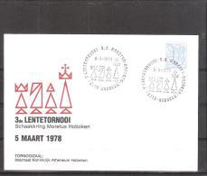 Belgique: lettre oblit�ration 05/03/1978  3i�me tournoi du Printemps Hoboken.
