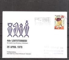Belgique: lettre oblit�ration 29/04/1979  4i�me tournoi du Printemps Hoboken.