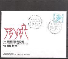Belgique: lettre oblit�ration 16/05/1976  1ier tournoi du Printemps Hoboken.