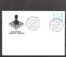 Belgique: lettre oblit�ration 03/04/1977  Schaakkring Moretus Hoboken.