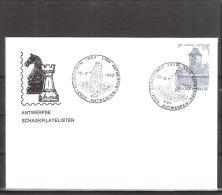 Belgique: lettre oblit�ration 10/09/1982  Ligue d'�checs de Antwerpen..