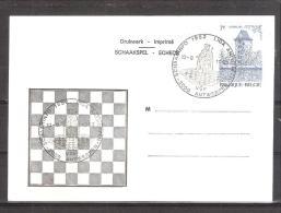 Belgique: Carte  oblit�ration 10/09/1982 Ligue d'�checs � Antwerpen.