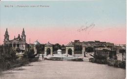 MALTA PANORAMIC WIEW OF FLORIANA  1916 - Malte