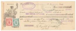 LETRA DE CAMBIO Años 30 ILUSTRADA Con Sellos Y Timbres - Banco Comercial De Barcelona - Letras De Cambio