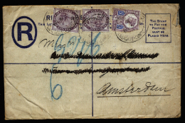 A2189) UK Registered Cover 1888 With Mi.65 A.o. Stamps To Amsterdam / Netherlands - Briefe U. Dokumente