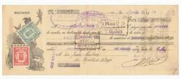 LETRA DE CAMBIO Años 30 ILUSTRADA Con Sellos Y Timbres - Banca Anglo Sud Americana - Letras De Cambio