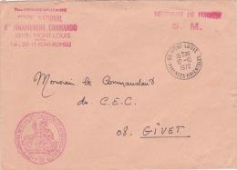 """FRANCHISE """" CENTRE D'ENTRAINEMENT COMMANDO"""" Obl MONT-LOUIS PYRÉNÉES ORIENTALES Sur Lettre FM > Givet Ardennes - Sellos Militares Desde 1900 (fuera De La Guerra)"""