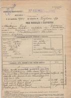 ^ 26 FANTERIA PORTALBERA STRADELLA VOGHERA MONTAGNA LUIGI GUERRA ITALO TURCA FOGLIO MATRICOLARE DOCUMENTO MILITARE 19 - Vecchi Documenti