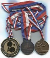 Table Tennis - Medal , 3 Pieces, Diameter 70,  50 Mm - Tischtennis