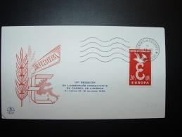 13.10.1958  STRASBOURG CONSEIL COUNCIL EUROPE EUROPARAT EUROPA CEPT - Lettres & Documents