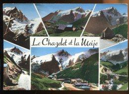 CPM Non écrite 05 LA GRAVE EN OISANS  Hameau Du Chazelet Et La Meije Multi Vues - Autres Communes