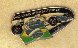 Pin Automobile Williams Renault FW 16 1994 Rothmans Distintivi Pins Spilla Auto Brasile F! Gran Prix - Unclassified