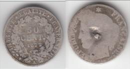 **** 50 CENTIMES 1872 K - BORDEAUX - CERES - ARGENT (LIRE NOTA) **** EN ACHAT IMMEDIAT !!! - Francia