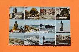 L´INVERVILLE (50) Carte Multivues (12) - 1961 Edit GABY TBE CPSM Petit Format Couleur - Autres Communes