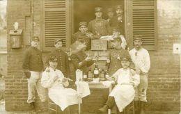 N°33401 -carte Photo Soldats Du 119è  -vive La Classe 1910- - Regiments