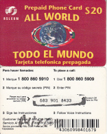 DOMINICANA  - Todo El Mundo, RSLcom Prepaid Card $20, Used