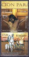 SALVADOR 2007 2 V MNH  EDUCATION FOR ALL Jesus Christ Horses Horse Chevaux Cheval Caballos Cavalli  Paarden Pferde - Christianisme