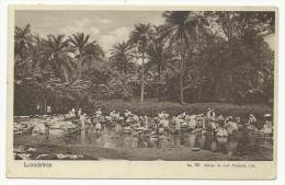 SÃO TOMÉ - LAVADEIRAS - WASHER WOMAN - LAVANDIÈRE - PORTUGAL - Ed. José Pimenta N.º 29 - 2 SCANS - Santo Tomé Y Príncipe