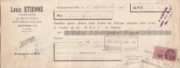 PAS DE CALAIS - BOULOGNE SUR MER - ARMATEUR - LOUIS ETIENNE - 1938 - Bills Of Exchange