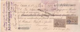 PAS DE CALAIS - CALAIS - E. & O. DUNIAGOU FRERES - 1895 - Lettres De Change
