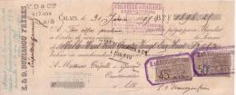 PAS DE CALAIS - CALAIS - E. & O. DUNIAGOU FRERES - 1898 - Lettres De Change