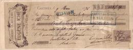 TARN - CASTRES - SERRURERIE EN TOUT GENRE - EUGENE ICHE - 1896 - Lettres De Change