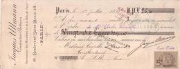 PARIS - CONSTRUCTEUR ELECTRICIEN - 16 , BOULEVARD SAINT DENIS - JACQUES ULLMANN - 1892 - Bills Of Exchange