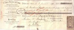 NORD - DOUAI - CIE DES FOURS A COKE DU NOR ET DU PAS DE CALAIS  - MINES D´AZINCOURT - HOUILLES - COKES - 1890 - Lettres De Change