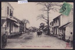 Tonkin - Dap-Cau - Rue Principale Avec Pousse-pousses - Timbre Indochine Française 1906 (12´648) - Viêt-Nam