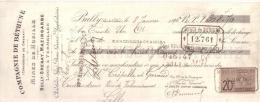 PAS DE CALAIS -  BULLY - COMPAGNIE DE BETHUNE - MINES DE HOUILLE DE BULLY GRENAY , MAZINGARBE , LOOS & VERMELLES - 1896 - Lettres De Change