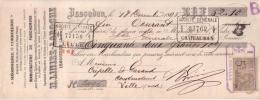 INDRE - ISSOUDUN - MEGISSERIE - CORROIERIE - MANUFACTURE DE PARCHEMIN - H. LINIEZ LAROCHE - 1895 - Lettres De Change