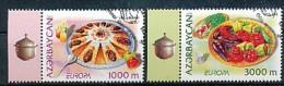 "ASERBAIDSCHAN Mi.Nr. 608-609 EUROPA CEPT "" Gastronomie "" 2005- Used - 2005"