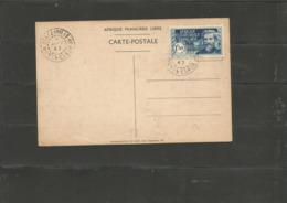 140D  Arrivée Du Général De Gaulle    Rare En Oblitéré Sur Carte  (clas Fdcver) - A.E.F. (1936-1958)