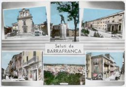 BARRAFRANCA, VEDUTINE E SALUTI, VG 1968, FINESTRELLE   **** - Enna