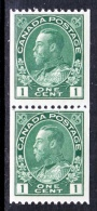 Canada  131 X 2  **  COIL - 1911-1935 Reign Of George V
