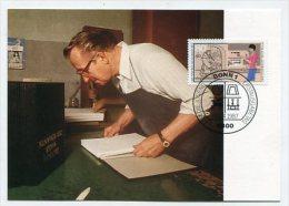 GERMANY - AK 170122 MC - PC + Stamp -  MaxiPhil 13/87 Der Buchbinder - [7] Federal Republic