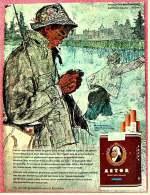Reklame Werbeanzeige  ,  Astor Cigaretten  ,  Repräsentiert Verfeinerte Rauchkultur  -  Von 1965 - Raucherutensilien (ausser Tabak)