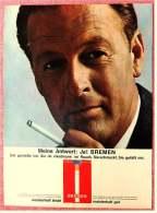 Reklame Werbeanzeige  , Bremen Zigaretten  ,  Meine Antwort : Ja! Bremen  -  Von 1965 - Raucherutensilien (ausser Tabak)