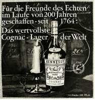 Reklame Werbeanzeige Von 1965  -  Hennessy Cognag  -  Das Wertvollste Cognac-Lager Der Welt  -  Von 1965 - Alkohol