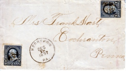 U.S. POSTAL  HISTORY  COVER  EARLY  PRE-CANCEL  KERRTOWN,  PA.  1897 - United States