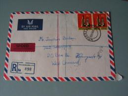 == SA  Speedpost Cv. 1969  Back Side Flap Missing - Südafrika (1961-...)