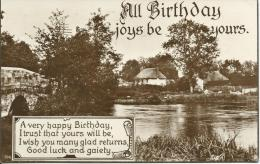 All Birthday Joys Be Yours    104 This Is A Real Photograph  1929 Postmark - Birthday