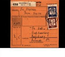Bulletin D´ Expédition  Paketkarte  Allemagne  GELSENKIRCHEN - [7] République Fédérale