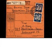 Bulletin D´ Expédition  Paketkarte  1963  -  Allemagne  GELSENKIRCHEN -  NORTHEIM - [7] République Fédérale