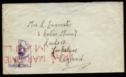 A2193) UK Fieldpost Cover From Ship 1944 ? To Yorkshire - Officials