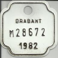 Plaque Vélomoteur Brabant 1982 - Plaques D'immatriculation