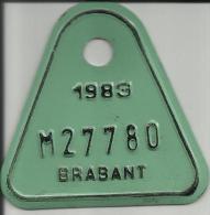Plaque Vélomoteur Brabant 1983 - Plaques D'immatriculation