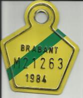 Plaque Vélomoteur Brabant 1984 - Plaques D'immatriculation