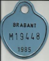 Plaque Vélomoteur Brabant 1985 - Plaques D'immatriculation