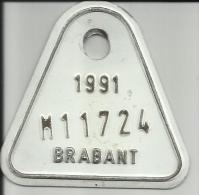 Plaque Vélomoteur Brabant 1991 - Plaques D'immatriculation